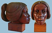 Girl Sculptures - Cuban  Mulata by  Jorge Rene Gomez Manzano