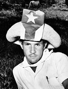 Patriots Posters - Cuban Patriot Wearing A Flag Decorated Poster by Everett