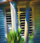 Caribbean Digital Art Framed Prints - Cuban Rural Farm House Framed Print by Bob Salo