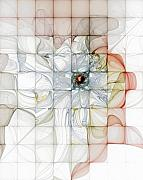 Abstract Flowers Digital Art - Cubed Pastels by Amanda Moore