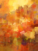 Interpretation Prints - Cubic Lightbreak Print by Ann Croon