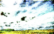 Panoramic Digital Art - Cubist Field by Andrea Barbieri