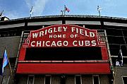 Chicago Wrigley Field Framed Prints - Cubs House Framed Print by Lyle  Huisken