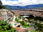 Canadian Photographer Posters - Cuenca Ecuador as seen from Turi Poster by Al Bourassa