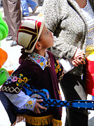 Poncho Photos - Cuenca Kids 155 by Al Bourassa
