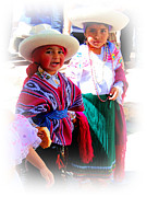 Poncho Photos - Cuenca Kids 191 by Al Bourassa