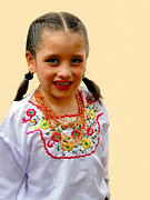 Embroidered Prints - Cuenca Kids 203 Print by Al Bourassa