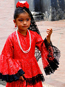 Lace Dress Prints - Cuenca Kids 209 Print by Al Bourassa