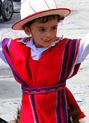 Poncho Photo Framed Prints - Cuenca Kids 68 Framed Print by Al Bourassa