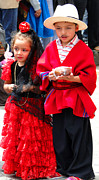 Poncho Photos - Cuenca Kids 78 by Al Bourassa
