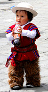 Poncho Photos - Cuenca Kids 79 by Al Bourassa