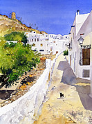 Margaret Merry Framed Prints - Cuesta de la Atalaya Nijar Framed Print by Margaret Merry