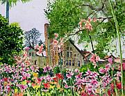 Wine Country. Painting Prints - Culinary Institute at Graystone Print by Gail Chandler