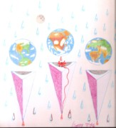 Rain Drawings - Culpable Countries by Rod Ismay