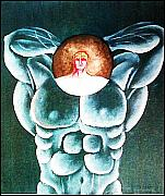 Hypertrophy Of The Spirit Framed Prints - Cult to the Body Framed Print by Paulo Zerbato