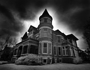 Haunted House Photo Posters - Culver Mansion Poster by Phantasmagoria Photography