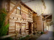Log Cabin Art Prints - Cumberland Building Print by Cindy Wright