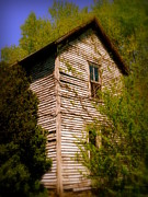 Cabin Wall Prints - Cumberland Two Story Print by Cindy Wright