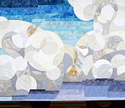 Quilts Tapestries - Textiles - Cumulonimbus by Linda Beach