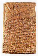 Babylon Posters - Cuneiform Mathematical Text, First Poster by Photo Researchers