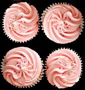 Birthday Metal Prints - Cup cakes Metal Print by Jane Rix