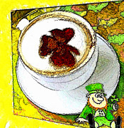 Coffe Digital Art - Cup O The Irish by Carrie OBrien Sibley