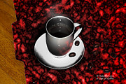 Rateitart Digital Art Prints - Cup of Coffee Print by James Ahn