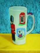 London England  Pastels - Cup of London Java by Melinda Etzold