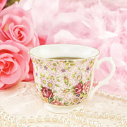 Cup Of Tea Photos - Cup Of Tea by Cheryl Davis