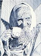 Robbi Musser Drawings - Cup of Tea by Robbi  Musser