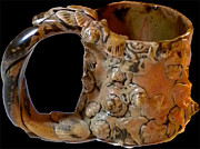 Handmade Ceramics - Cup With Handle by Mona Mauri