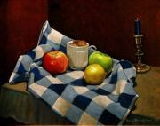 Napkins Posters - Cupboard Still Life Poster by Doug Strickland