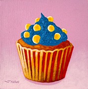 Tropical Prints Prints - Cupcake  Print by John  Nolan
