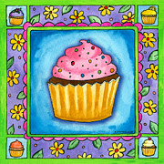 Corwin Paintings - Cupcake by Pamela  Corwin