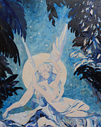 Embrace Paintings - Cupid and Psyche by Addie May Hirschten