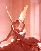 Psyche Metal Prints - Cupid and Psyche Metal Print by David Waldo