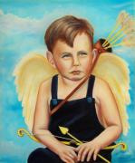 Boys Prints - Cupid Print by Joni McPherson