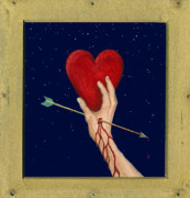 Valentines Day Posters - Cupids Arrow Poster by Charles Harden