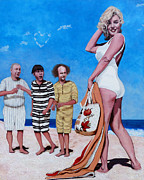 Marilyn Monroe Paintings - Cupids Arrow by Tom Roderick