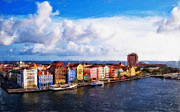 Waterscape Painting Metal Prints - Curacao Oil Metal Print by Dean Wittle