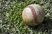 Baseball Closeup Photo Metal Prints - Cure For Spring Fever Metal Print by Gwyn Newcombe