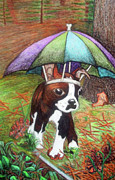 Umbrella Drawings Framed Prints - Curiosity 2 Framed Print by Haley Anderson