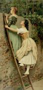 Ladder Paintings - Curiosity by Eugen Von Blaas