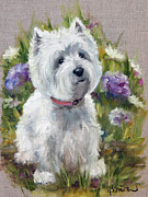 Dog Art - Curiosity by Mary Sparrow Smith