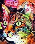 Kitty Mixed Media - Curious Cat by Dean Russo