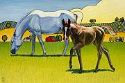Foal Prints - Curious George Print by Stacey Neumiller