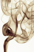 Smoke Art Framed Prints - Curled Framed Print by Bryan Steffy