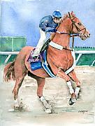 Horseracing Prints - Curlin Print by Arline Wagner