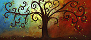 Grow Painting Posters - Curly Branches Tree Poster by Elaine Hodges
