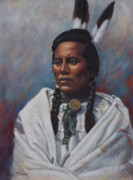 Plains Indian Paintings - Curly  by Harvie Brown